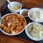 51029639 - 「マーボー豆腐定食 (850円)」、ほんのりと甘みがあってあとからジワジワきますね