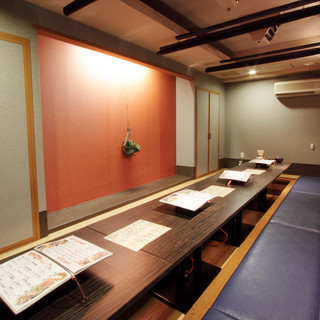 個室全3室宴会最大20名様までご利用可能な人気の掘りごたつ席