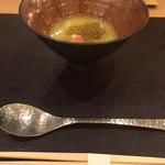 51030887 - メロンスープに生ハムの中にチーズが♡♡♡