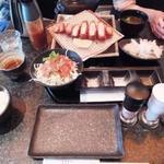 とんかつ マンジェ - 「塩とんかつ定食」(1,460円込み)(2016年5月)