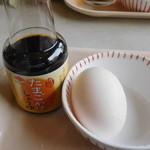 ココス - 生卵と専用醤油