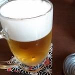 和ダイニング 角家 - ビールはスーパードライ!