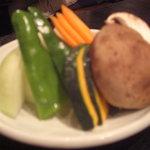 登龍門 - 野菜盛り合わせ♪(少しピンがとんですみません)