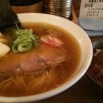51042749 - らーめん(海老醤油) 750円、ミニハッシュドビーフ丼(限定10食) 200円