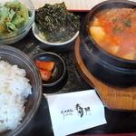 炭火焼肉 寿門 - 豆腐チゲセット