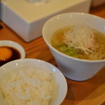 Ramenshibahama - 料理写真:朝らー定食【米朝】