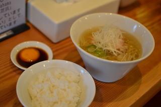 らーめん芝浜 - 朝らー定食【米朝】