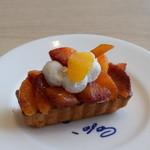 カフェ コム サ - ブラッドオレンジのケーキ