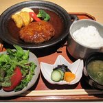 麻布 武藤 - ハンバーグ定食
