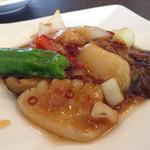 Ryuutenrou - イカの辛し炒め。