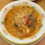 サイゼリヤ - エビと野菜のトマトクリームリゾット 税込399円