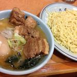51054891 - 角煮つけ麺850円(味玉入り)