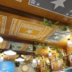中村商店 - 明るい照明がいくつもさがる賑やかな天井