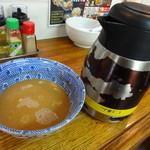 三竹寿 - スープ割り ※ポットは最初からカウンター上に置いています