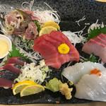 食事処 熱海 祇園 - 海鮮刺身五点盛り定食