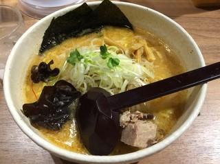 白樺山荘 新千歳空港店 - ハーフ味噌ラーメン 550円