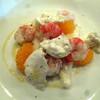 La Cucina VENTITRE - 料理写真:みかんとモッツァレラとえび