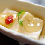 しゃぶしゃぶ たわら屋 - ごま豆腐の前菜