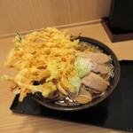 おか田 - 鴨温蕎麦、かき揚げ