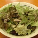 でいらぼっちゃ - '16、5、16 サービスの柔らかレタスのサラダです。