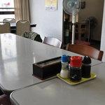 明野駐屯地 厚生センター食堂 - 扇風機で頑張るのが日本の自衛隊です。