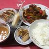 中華園 - 料理写真:酢豚735円に定食セット260円