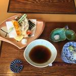 貴匠庵 - お昼のちょこっとコース¥1600の天ぷら