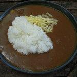 登六庵 - ライスカレーにチーズをトッピング
