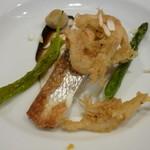 ナユタカ - 温前菜 野菜は万願寺 アスパラガス