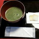 田儀屋カフェ - 田儀屋カフェ『お抹茶』 400円