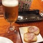 ラ クッチャーラ - お通しとビール