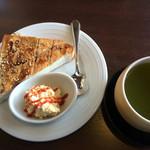 51101434 - 方丈茶&黒糖きなこトースト