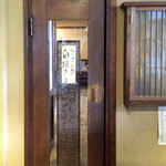 あなごめし うえの - この扉の奥が1F飲食スペース '16 4月上旬