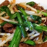 中華麺飯 太楼 - レバニラのアップ