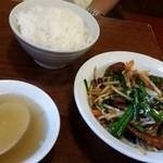 中華麺飯 太楼 - 夫のレバニラ定食