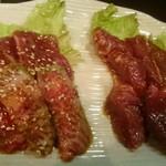 焼肉ホルモン 塩竈 - 特製鹽竈漬カルビ、豚サガリ