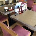 牛鍋うどん 楽 - テーブル席