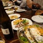 ブライトン ベル - 本日の前菜3品とサラダ、字カルパッチョ