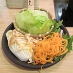 しゃぶしゃぶ温野菜  - 野菜。