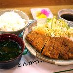 とんかつ いなみ - とんかつ定食(1000円)