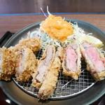 串亭 - 牛かつと2種類のメンチカツ