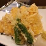 水炊き 積 - とうもろこしの天ぷら