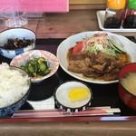 さかね食堂 - 焼肉定食850円(税別)