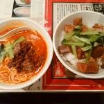 陳麻家 - 【2016.5.18(水)】日替定食(角煮丼+半担々麺)850円→550円