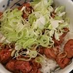 四季味 茜 - 純レバ丼アップ