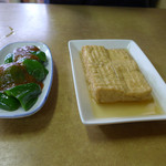 下総屋食堂 - 厚揚げ煮とピーマン味噌