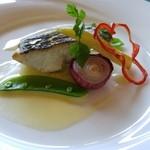 51126272 - 本日の魚料理 スズキのポワレ 白ワインとバターのソース