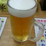 魚庭本店 - スーパードライ299円(税別)