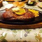 ミートギャラリー エチゴヤ - 昨年、次男がいただいた500gランプステーキ