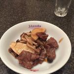 赤坂飯店 - 4500円コース  牛肉のオイスター炒め